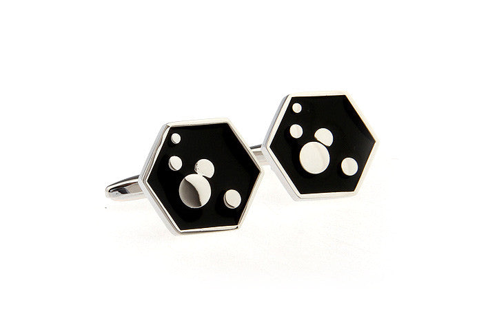 Novelty Cufflinks - Hexagon - The Little Link