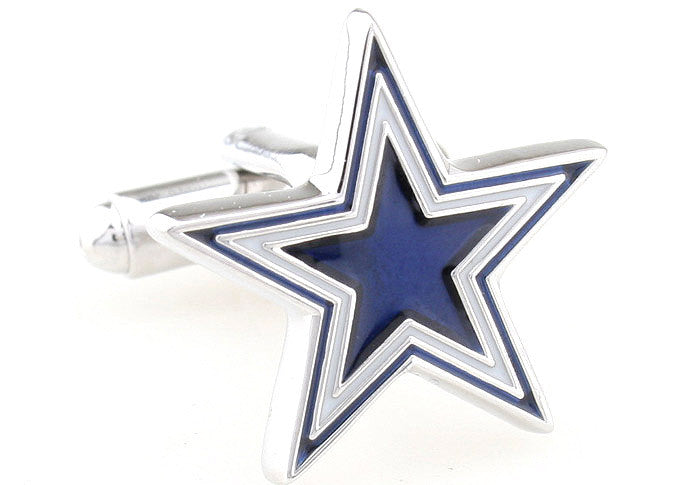 Blue and Black Superhero Cufflinks - Starburst