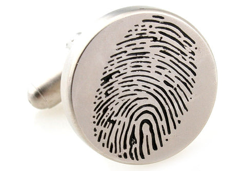 Novelty Cufflinks - Fingerprint - The Little Link