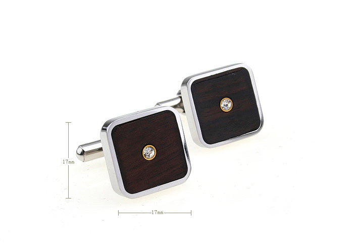 Classic Cufflinks - Wood Crystal - The Little Link