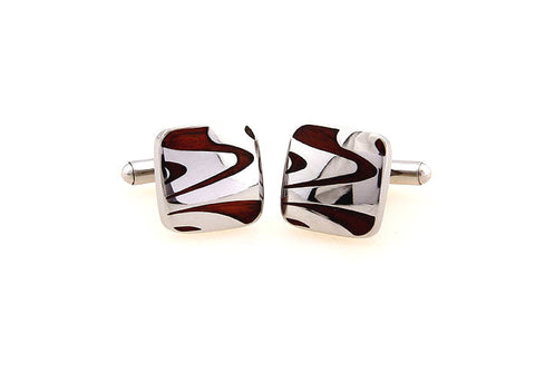 Classic Cufflinks - Silver and Wood Cufflinks - Adrift At Sea - The Little Link