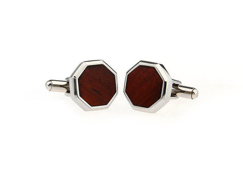 Classic Cufflinks - Silver and Wood Cufflinks - Arrtez- The Little Link