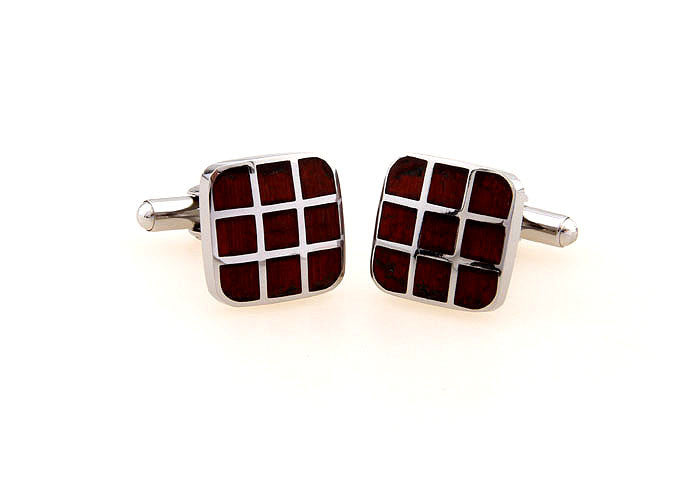 Classic Cufflinks - Wood Tic Tac Toe - The Little Link