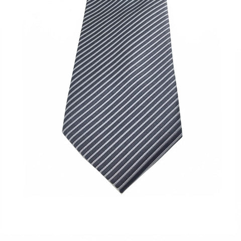 Ties - Grey Stripe Tie - Bryden - The Little Link