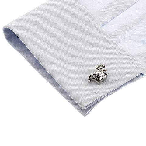 Silver Novelty Cufflinks - Jester