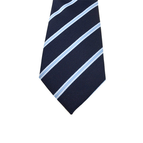 Navy Blue Stripe Tie - Deon