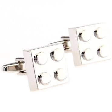Silver Cartoon Square Cufflinks - Lego Land