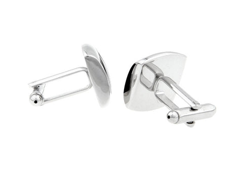 Black and Silver Classic Cufflinks - Cuff Crossing