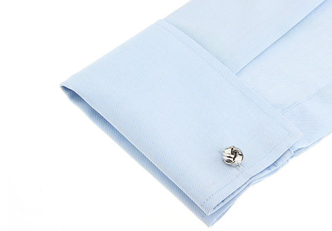 Silver Classic Knot Cufflinks - Infinity Ball