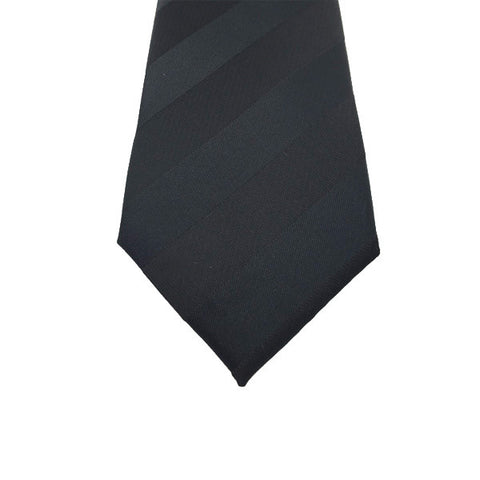 Black Stripe Tie - Hugh
