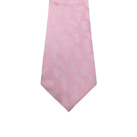 Pink Feather Patterned Tie - Silas
