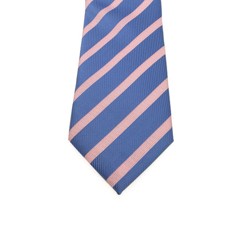 Blue and Pink Stripe Tie - Jasper
