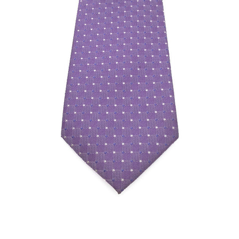 Purple and White Polka Dot Tie - Roman