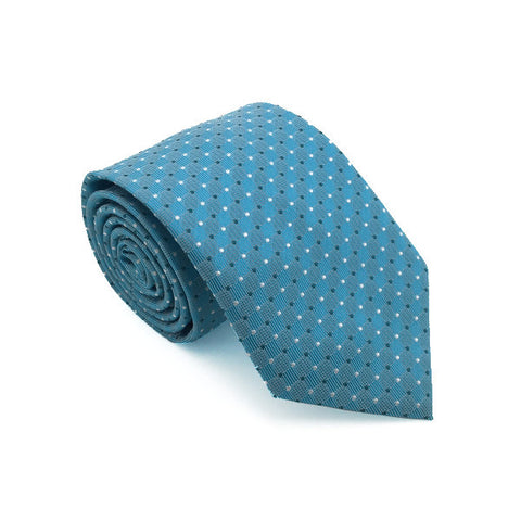 Blue and White Polka Dot Tie - Harrison