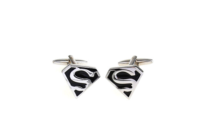 Novelty Cufflinks - Superman (Black) - The Little Link
