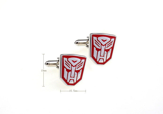 Novelty Cufflinks - Transformers Autobot (Red) - The Little Link