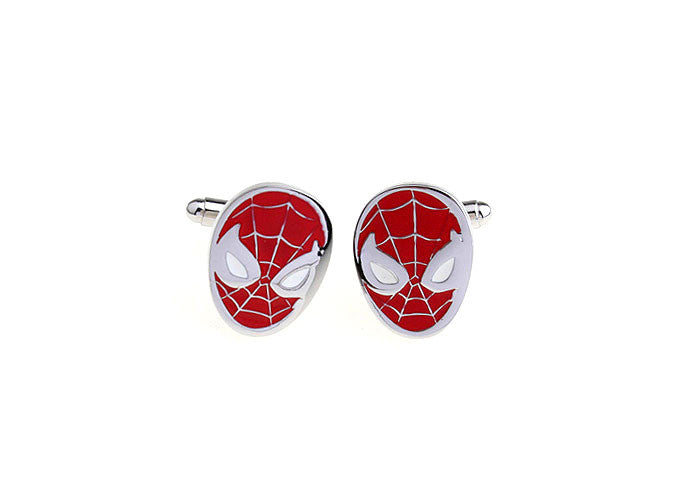 Novelty Cufflinks - Spiderman Mask - The Little Link