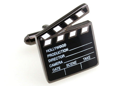 Black Novelty Retro Cufflinks - Director