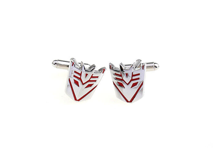 Novelty Cufflinks - Transformers Decepticon (Red) - The Little Link