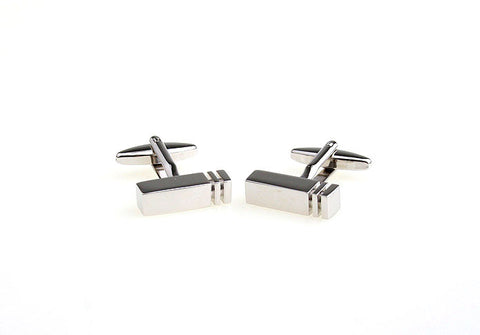 Sliver Rectangle Classic Cufflinks - Duels