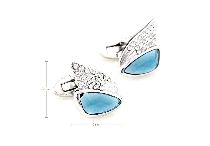 Classic Cufflinks - Sapphire Wings - The Little Link