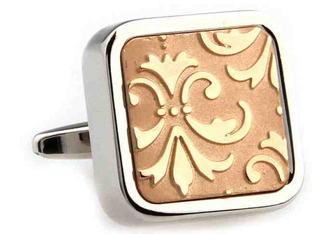 Rose Gold Classic Flower Cufflinks