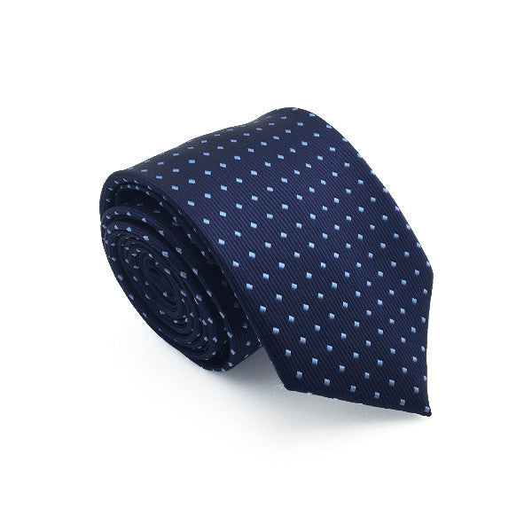 Navy and Light Blue Patterned Tie - Rhett
