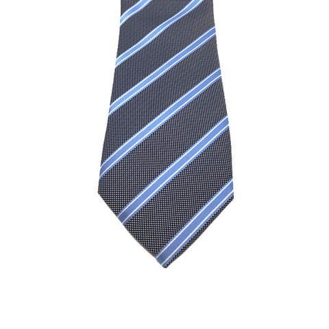 Blue and Grey Stripe Tie - Otis