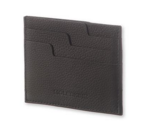 Bags - Moleskine Lineage Leather Card Wallet - Black - The Little Link