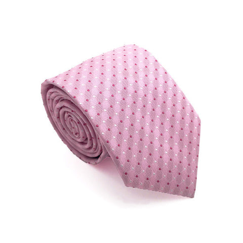 Ties - Pink Polka Dot Tie - Clyde - The Little Link