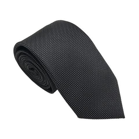 Ties - Black Textured Silk Tie - Axis - The Little Link