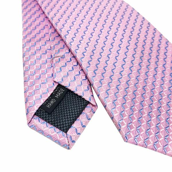 Ties - Pink Stripe Silk Tie Adair - The Little Link