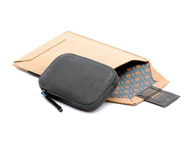 Bags - Bellroy All Conditions Leather Wallet - Charcoal - The Little Link