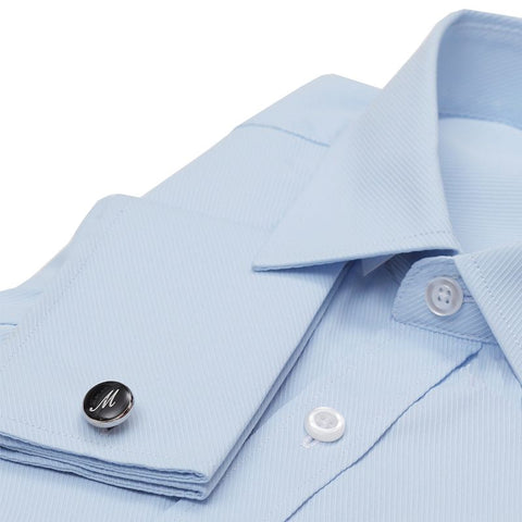French Cuff Dress Shirt - Ash Blue