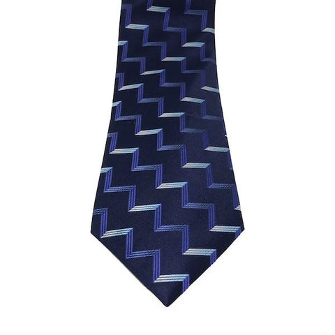 Blue Stripe Wide Tie - Blue Stripe Wide Tie - Austin