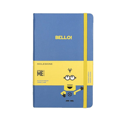 Limited Edition Minions Moleskine Large Notebook - Blue