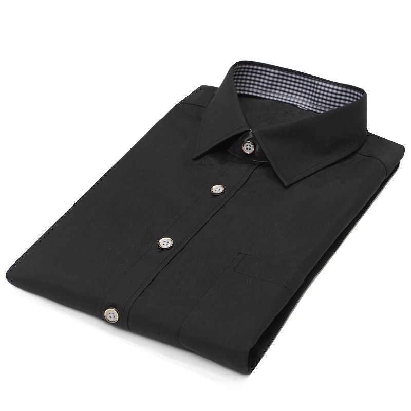 French Cuff Dress Shirt - Jet Black