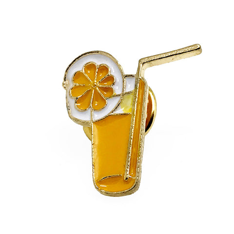 Lapel Pins - Orange Novelty Lapel Pin - Cocktail Mix Lapel Pin - The Little Link