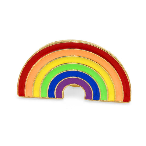 Colorful Novelty Lapel Pin Boutonniere - Rainbow