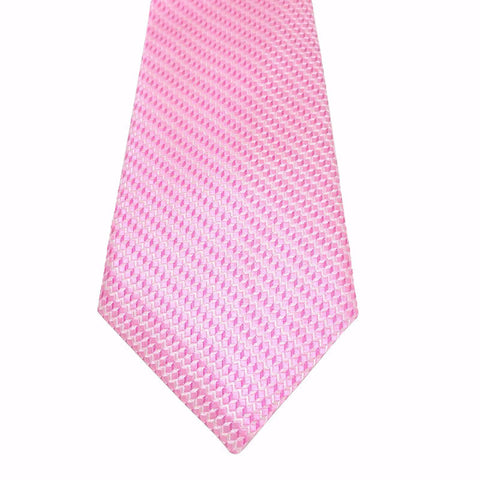 Ties - Pink Textured Silk Tie - Cape - The Little Link