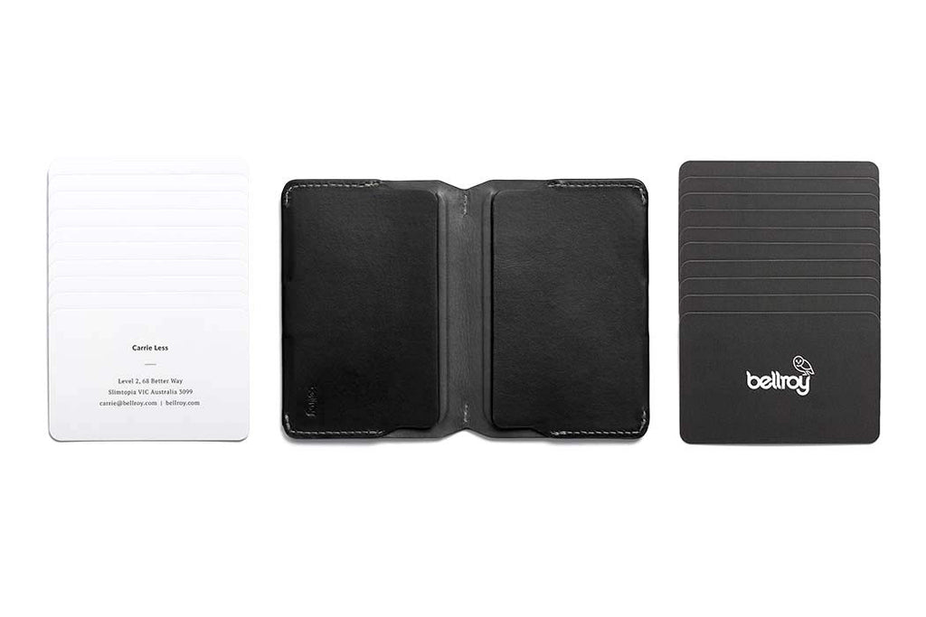 Bags - Bellroy Leather Card Holder - Black - The Little Link