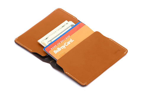 Bags - Bellroy Leather Card Holder - Caramel - The Little Link