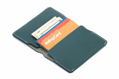 Bags - Bellroy Leather Card Holder - Teal - The Little Link