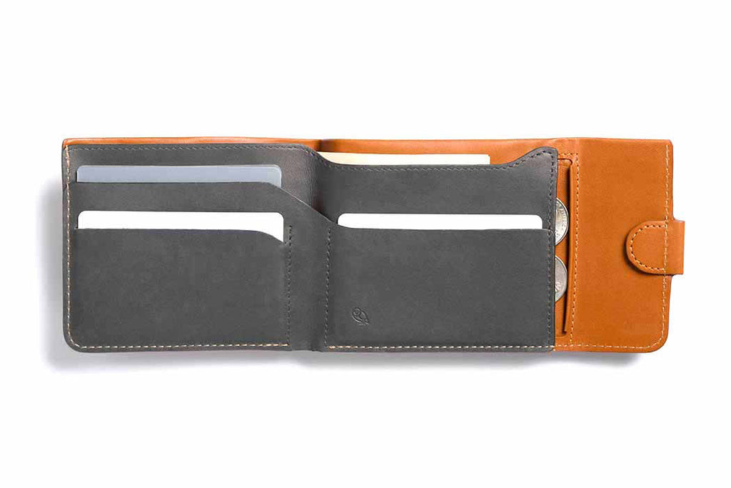 Bags - Bellroy Coin Fold - Caramel - The Little Link