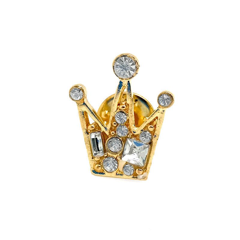 Lapel Pins - Gold Crown Lapel Pin - The Little Link