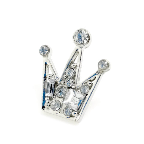 Silver Crown Lapel Pin