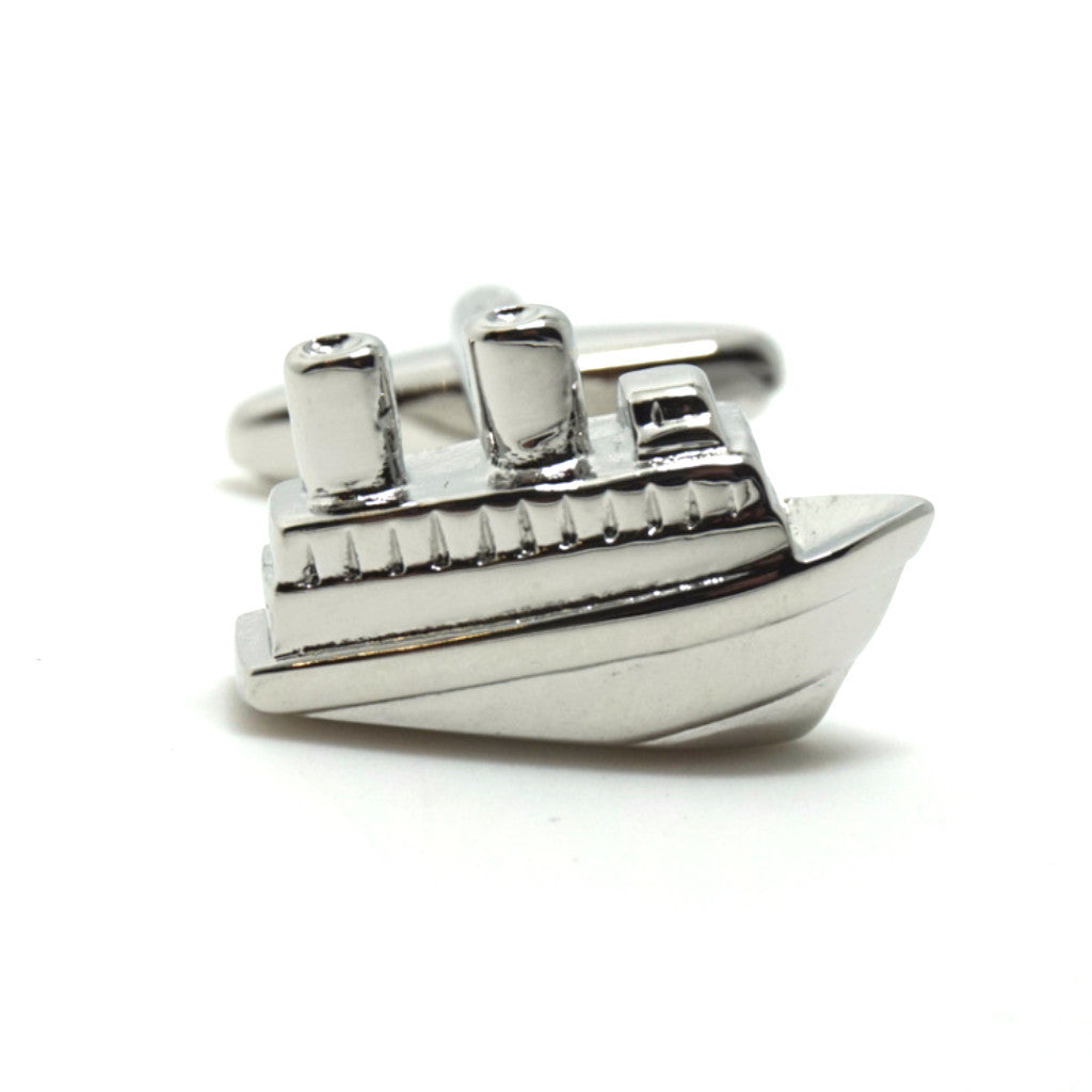 Silver Novelty Cufflinks - Titanic