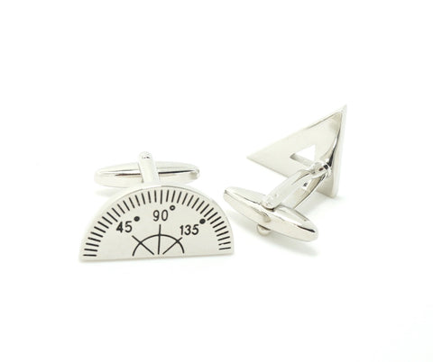 Novelty Cufflinks - Compass and Protractor - The Little Link