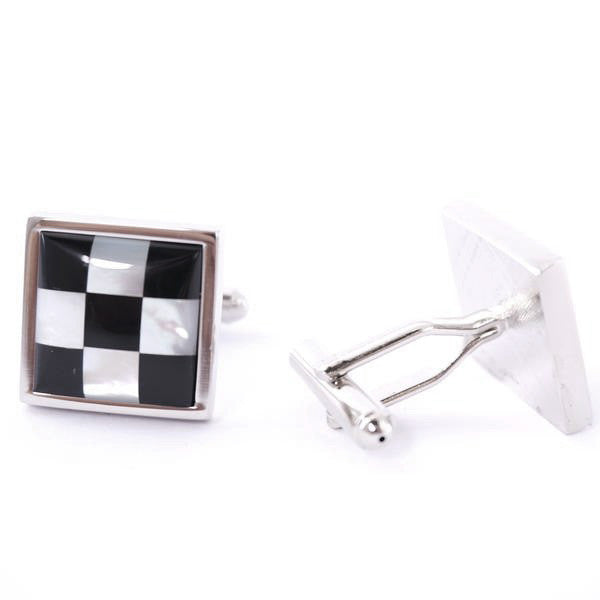 Classic Cufflinks - Pearl Chequers - The Little Link