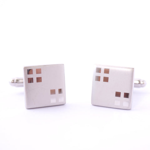 Silver Classic Square Cufflinks - Icy